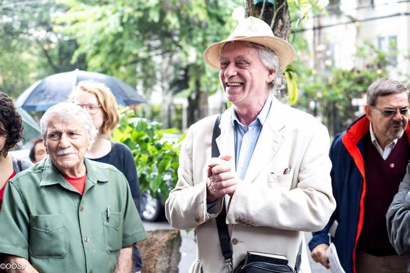O ex-senador pela Itália, José Luiz Del Roio, também esteve presente
