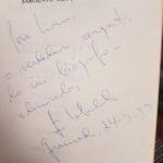 A dedicatória de João Ubaldo Ribeiro