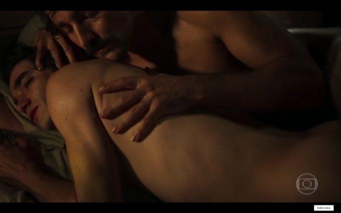 Caio Blat (André) e Ricardo Pereira (Tolentino) na 1ª cena de sexo gay na TV aberta